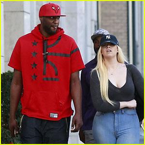 Lamar Odom Hangs Out with a Khloe Kardashian Lookalike