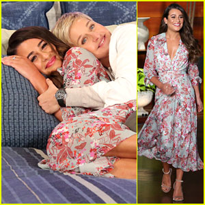 Lea Michele & Ellen DeGeneres Cuddle in Bed for Fun Photo Shoot