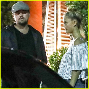 Leonardo DiCaprio's Girlfriend Nina Agdal Cuddles Up to Him After Dinner