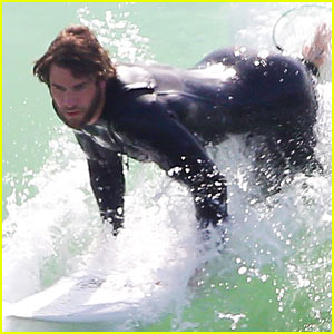 Liam Hemsworth's Wetsuit Shows Off His Totally Ripped Body
