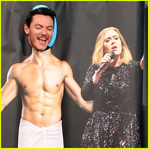 Luke Evans Gives a 'Shirtless' Serenade of Adele's Song on 'Ellen' - Watch Now!