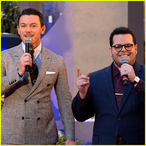 Luke Evans & Josh Gad Sing 'Be Our Guest' at 'Beauty & The Beast' Hollywood Premiere (Video)