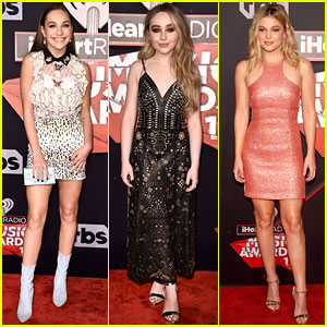 Maddie Ziegler & Sabrina Carpenter Join More Young Hollywood Stars at iHeartRadio Music Awards 2017!