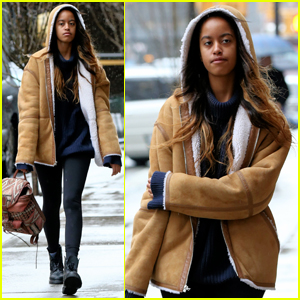 Malia Obama Braves the Snow On Her Walk to Work
