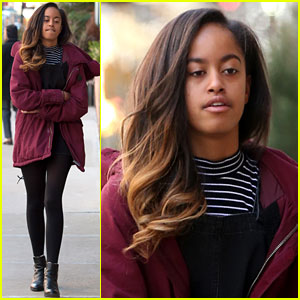 Malia Obama Starts Her Work Week at Her Internship