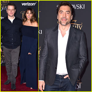 Matt Damon & Wife Luciana Enjoy Date Night at the 'Beauty & the Beast' Premiere