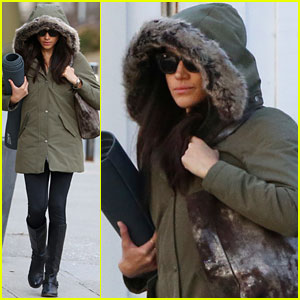 Meghan Markle Bundles Up in Toronto En Route to Yoga Class