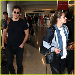Supergirl's Melissa Benoist & Chris Wood Catch a Flight Together