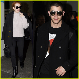 Nick Jonas & Emma Roberts Arrive in Paris For Fashion Week