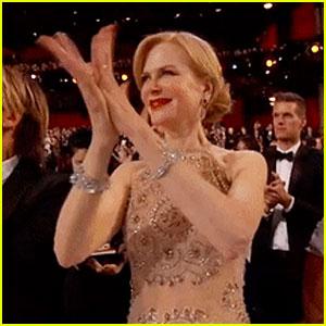 Nicole Kidman Explains Her Awkward Clapping at Oscars 2017