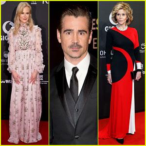 Nicole Kidman, Colin Farrell, & Jane Fonda Dress Their Best for Goldene Kamera Awards in Germany