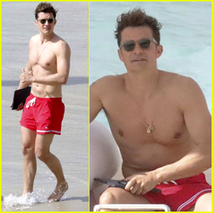 Orlando Bloom Enjoys Another Shirtless Day at the Beach!