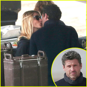 Patrick Dempsey & Wife Jillian Pack on the PDA!