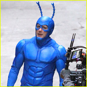 Peter Serafinowicz Suits Up for 'The Tick' Filming in NYC!