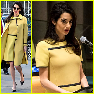 Pregnant Amal Clooney Speaks Out Against ISIS at the UN