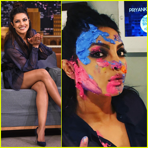 Priyanka Chopra Celebrates Holi With Jimmy Fallon