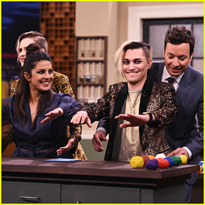 Priyanka Chopra & Evan Rachel Wood Face Off Against Jimmy Fallon In Tandem Sculptionary!