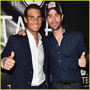 Rafael Nadal & Enrique Iglesias Buddy Up At Tatel Miami Grand Opening!