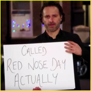 Andrew Lincoln Uses Cue Cards to Tease 'Love Actually' Reunion (Video)
