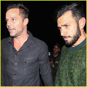Ricky Martin & Fiance Jwan Yosef Enjoy Dinner in WeHo