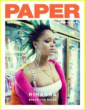 Rihanna Rocks Spiky Green Hair for 'Paper' Magazine Cover!