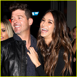 Robin Thicke Celebrates 40th Birthday with Girlfriend April Love Geary By His Side!