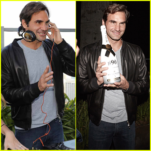Roger Federer Hosts Moet & Chandon Champagne Event in Miami!