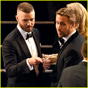Ryan Gosling & Justin Timberlake Had a 'Mickey Mouse Club' Reunion at the Oscars 2017
