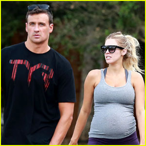 Ryan Lochte & Kayla Rae Reid Take French Bulldog On Walk For His Birthday