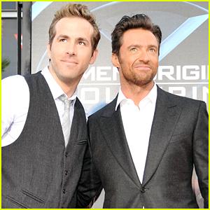 Ryan Reynolds Pokes Fun At Hugh Jackman During 'Logan' Press!