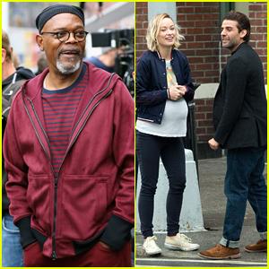 Samuel L. Jackson Joins Olivia Wilde & Oscar Isaac on Set of 'Life Itself'