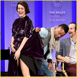 Cuba Gooding Jr. Seemingly Lifts Sarah Paulson's Dress at 'AHS' PaleyFest Panel