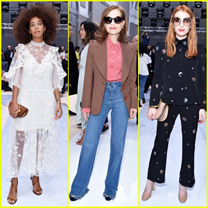 Solange Knowles, Isabelle Huppert & Emma Roberts Step Out In Style For Chloe Show!