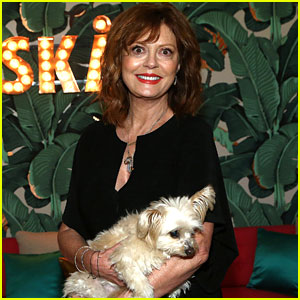Susan Sarandon Brings Her Dog Penny to a Party!