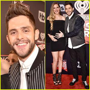 Thomas Rhett's Pregnant Wife Lauren Akins Debuts Baby Bump at iHeartRadio Music Awards 2017