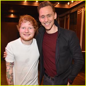 Tom Hiddleston Attends Ed Sheeran SiriusXM Secret Show in NYC