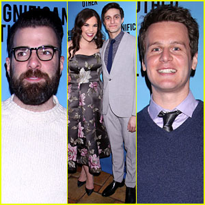 Zachary Quinto & Jonathan Groff Support Gideon Glick's Opening in 'Significant Other' on Broadway