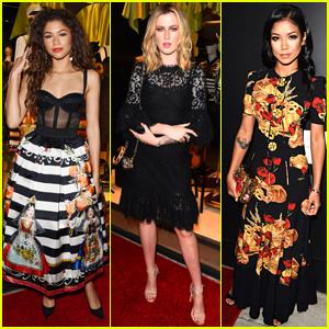 Zendaya, Ireland Baldwin, & Jhene Aiko Stun at Dolce&Gabbana Party!
