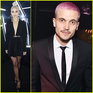 Zoe Kravitz & Boyfriend Karl Glusman Put On Their Best For Saint Laurent's Beauty Club Bash!
