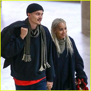 Zoe Kravitz & Boyfriend Karl Glusman Enjoy Romantic Date in Paris