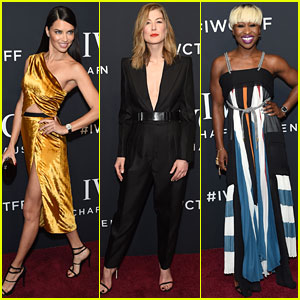 Adriana Lima, Rosamund Pike, & Cynthia Erivo Glam Up for IWC's Tribeca Film Fest Gala