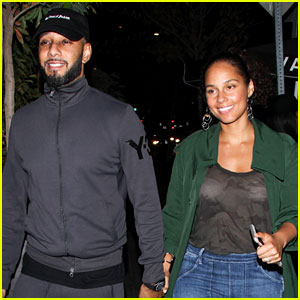 Alicia Keys & Husband Swizz Beatz Are So Cute on Date Night!