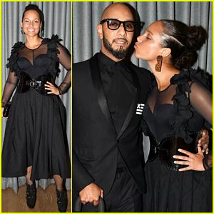 Alicia Keys & Swizz Beatz Have 'Magical Night' Together At Brooklyn Artists Ball 2017!
