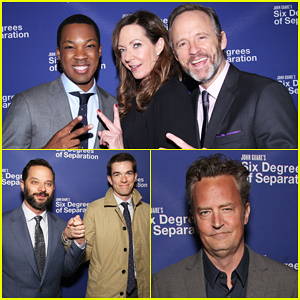 Allison Janney Corey Hawkins John Benjamin Hickey Get Star Studded Support At Six Degrees Of Separation Opening