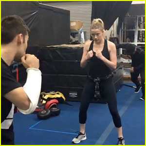Amber Heard Shows Off Intense 'Aquaman' Training (Video)