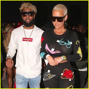 Amber Rose & Odell Beckham Jr. Hang Out at Coachella