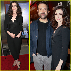 Anne Hathaway & Jason Sudeikis Attend the L.A. Premiere of 'Colossal'