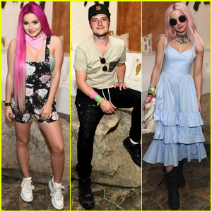 Ariel Winter & Dove Cameron Rock Pink Hair During Coachella 2017