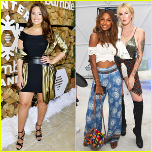 Ashley Graham & Jasmine Tookes Buddy Up At Coachella's Winter Bumbleland Bash!