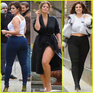 Ashley Graham Sports Different Looks for Sexy NYC Shoot